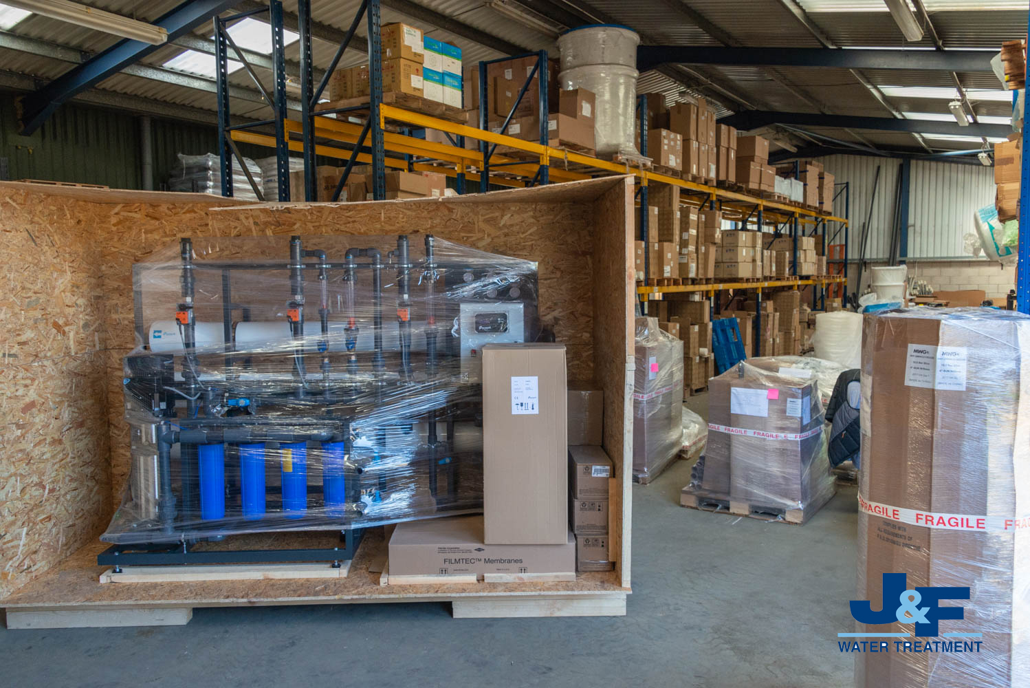Reverse Osmosis system for a poultry farm