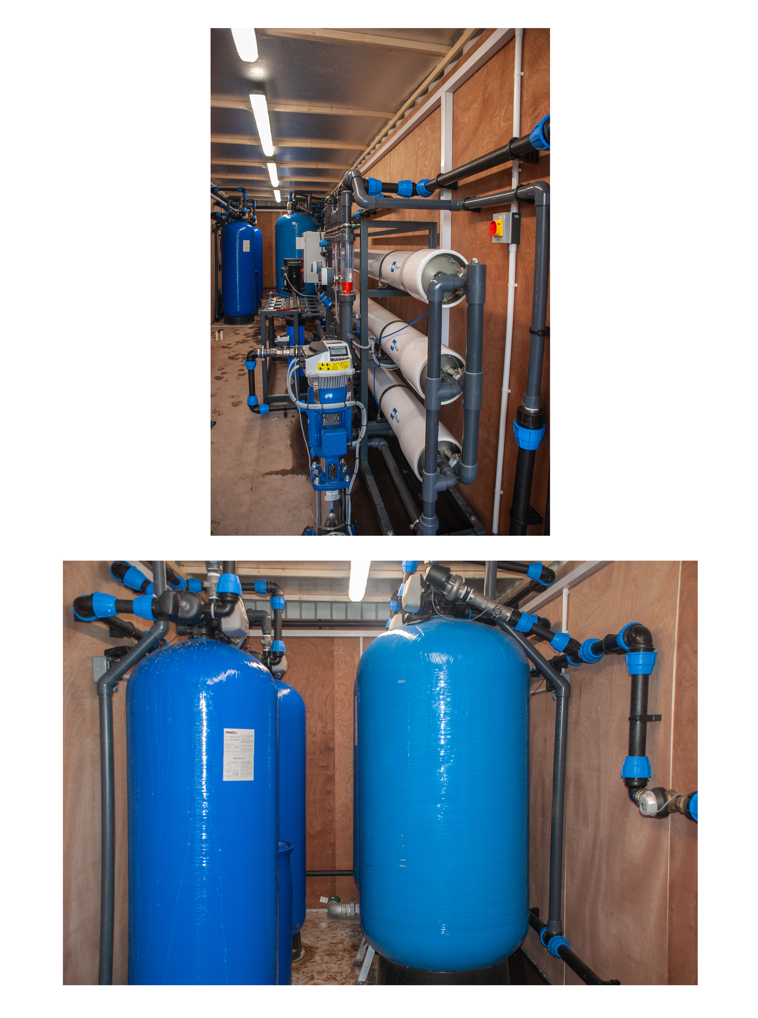 Complete Reverse Osmosis plant for a strawberry farm